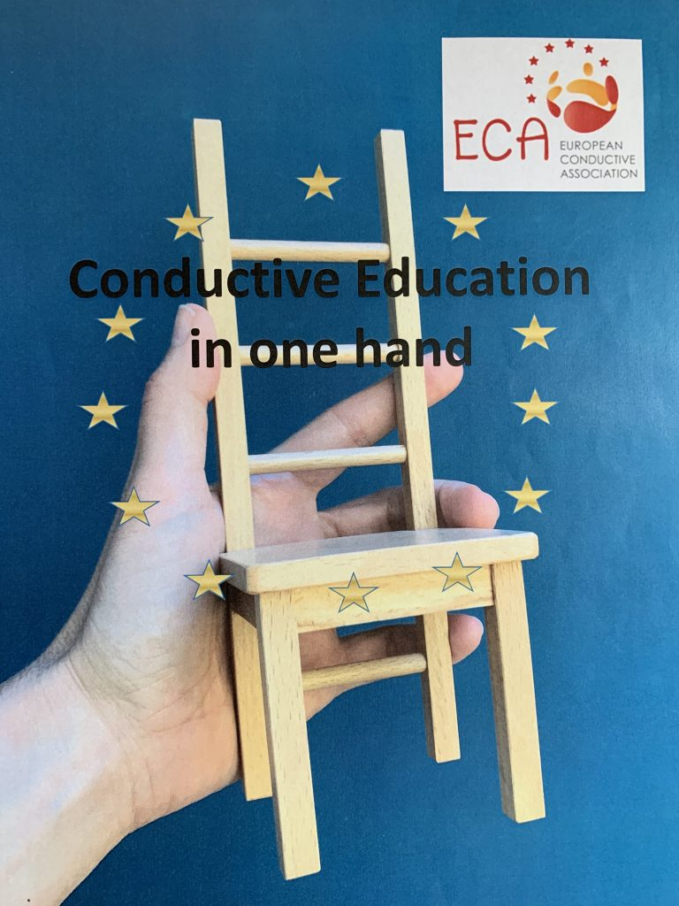 Petö chair in a hand with EU stars and ECA Logo